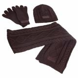 HV Polo Winter-Strickset Dark Brown