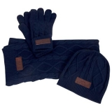 HV Polo Winter-Set aus Strick Navy