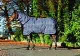 Horseware Rhino Plus medium Winterdecke mit Halsteil charcoal + Magic Brush
