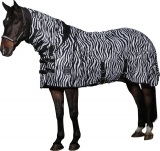 Horse Guard Fliegendecke Zebra Ekzemerdecke mit Halsteil + Bauchlatz